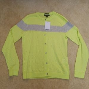 LANDS END SUPIMA COTTON NEON CARDIGAN SMALL NEW